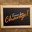 Stock Photo: Time for change, motivational messsage