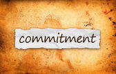 Commitment title on piece of paper — Stock Photo