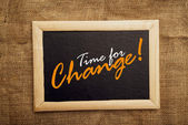 Time for change, motivational messsage — Zdjęcie stockowe