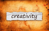 Creativity title on piece of paper — Stock Photo