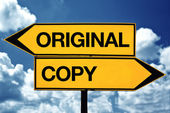Oroiginal or copy — Stock Photo