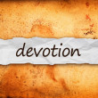 Devotion title on piece of paper — Foto Stock #37995801