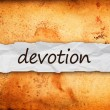 Devotion title on piece of paper — Stock Photo #37995801
