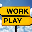 Work or play, opposite signs — Stock Photo #37996471