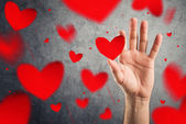 Catching hearts, Valentines day concept. — Stock Photo