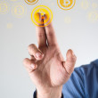 Collecting bitcoins — Stock Photo #38356927