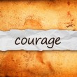 Stock Photo: Courage title on piece of paper