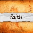 Stockfoto: Faith title on piece of paper