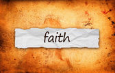 Faith title on piece of paper — Stock Photo