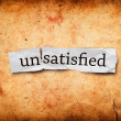 Stock Photo: Unsatisfied concept