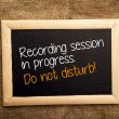 Recording session in progress. Do not disturb. — Stockfoto #38561361