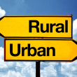 Rural or urban — Stock Photo