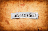 Unsatisfied concept — Stock Photo