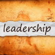 Leadership title on piece of paper — Stock Photo #38734385
