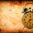 Vintage clock on Grunge old paper texture — Stock Photo