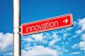 Innovation Street sign — Stock Photo