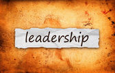 Leadership title on piece of paper — Stock Photo
