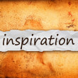 Inspiration title on piece of paper — Stock Photo #38858069