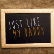 Just like my daddy — Stock Photo #38858405