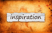 Inspiration title on piece of paper — Stock Photo