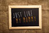 Proprio come mia mamma — Foto Stock