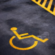 Stock Photo: Disabled person parking place permit mark