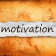 Stock Photo: Motivation title on piece of paper