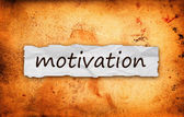 Motivation title on piece of paper — Stock Photo