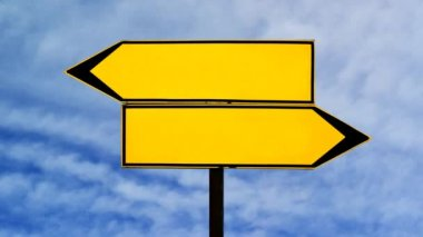 Two opposite direction signs — Video Stock