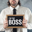 Stock Photo: I am Boss
