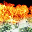 Stock Photo: Money is burning