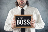 I am the Boss — Stock fotografie