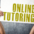 Mholding banner with ONLINE TUTORING title — Stock Photo #39120143