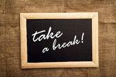 Fazer uma pausa — Fotografia Stock