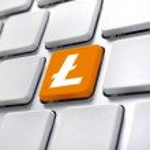 Litecoin symbol on computer keyboard — Stock Photo #39541931