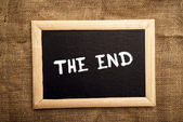 The end — Stock fotografie