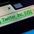 Twitter Inc in internet broser address bar — Stock Photo