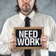 Stock Photo: Businessmneeds work