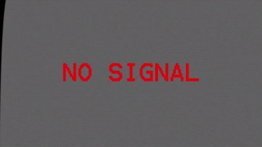 No TV signal. Television screen with no signal and white noise or static snow noise — Stock Video