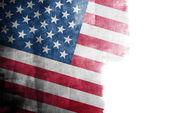 Bandeira americana grunge — Fotografia Stock