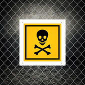 Caution sign - Do not enter — Stock Photo