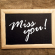 Miss you — Stock Photo #40590321