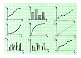 Diagrams and Charts and other infographics drawing — Stock fotografie