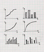 Diagrams and Charts and other infographics drawing — Stok fotoğraf
