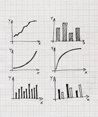 图示和图表等信息图形绘制 — 图库照片