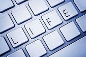 Word Life on computer keyboard — Stock Photo