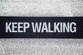 Keep walking on Pedestrian crossing — Stok fotoğraf