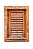 Italian style wooden window with closed shutter blinds — Zdjęcie stockowe