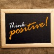 Think positive, motivational message — Stock Photo #41900709