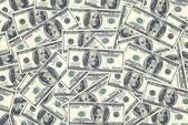 Arka plan olarak yüz dolar faturaları — Stok fotoğraf